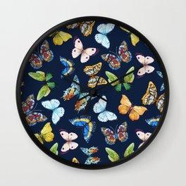 Butterfly Pattern 03 Wall Clock