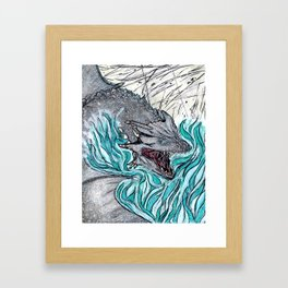 Furious Dragon Framed Art Print