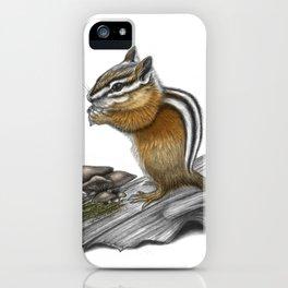 Chipmunk and mushrooms iPhone Case