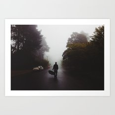 Fog in the Blue Mountains Art Print