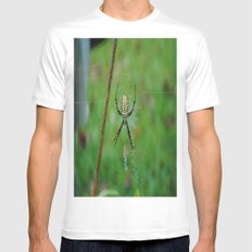 Hello Mr. Spider Mens Fitted Tee White SMALL