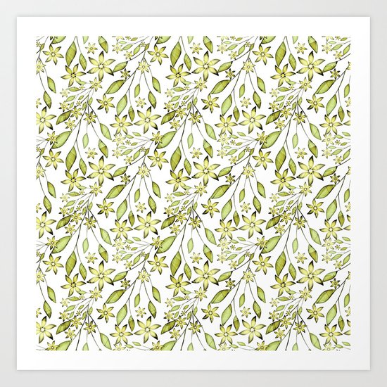 delicate floral pattern. Art Print