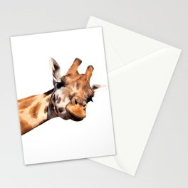 Giraffe portrait Stationery Cards