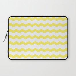 Yellow zigzag pattern Laptop Sleeve