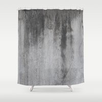 concrete Shower Curtains featuring Concrete by Shamgar