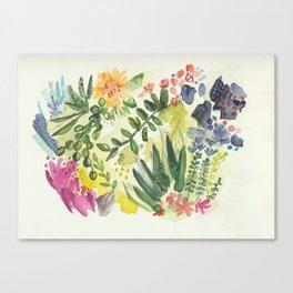 Florals and Corals Canvas Print