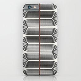 Retro, Mid-Century Line Art iPhone Case