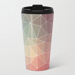Abstract Geometric Triangulated Design Travel Mug