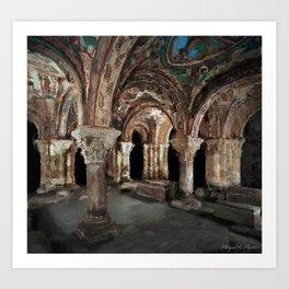 Catacombs of a Romanesque Church Art Print