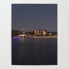 Torquay At Night Poster