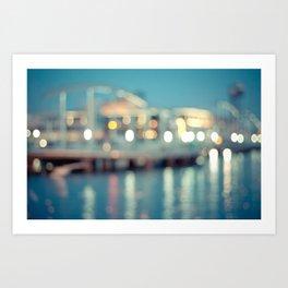 Barcelona: Port Vell with Bokeh Art Print