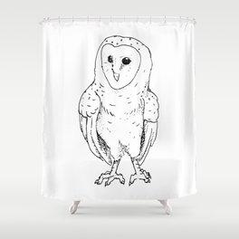 Pen & Ink Barn Owl Shower Curtain
