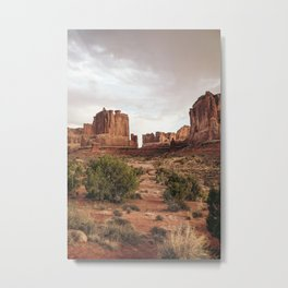 Desert Red Utah Rocks Metal Print