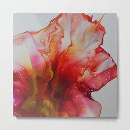 Abstract Magenta Flower Metal Print