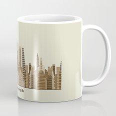 Pittsburgh skyline vintage Mug
