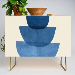 Abstract Shapes 37-Blue Credenza