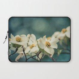 Spring Botanical -- White Dogwood Branch in Flower Laptop Sleeve