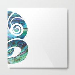 Tiki White Metal Print