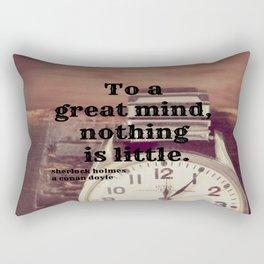 Great Mind Sherlock Holmes Rectangular Pillow