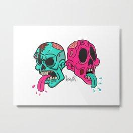 tongues & skulls Metal Print