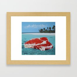 The Great Barrier Beef Framed Art Print