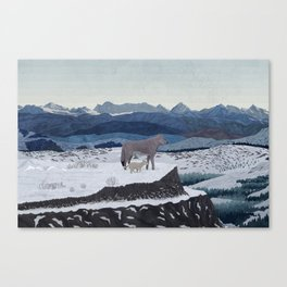 Wolfs Winter End Canvas Print