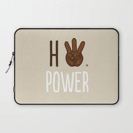 HiiiPower (w/text) : Chocolate Laptop Sleeve