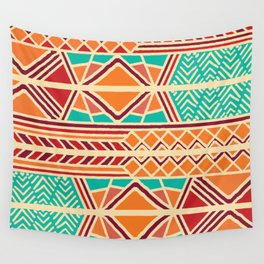 Tribal ethnic geometric pattern 027 Wall Tapestry