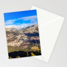 Sunny autumn day at the mount Salinchiet in the italian alps Stationery Cards