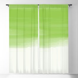 Green abstract brush strokes pattern Blackout Curtain