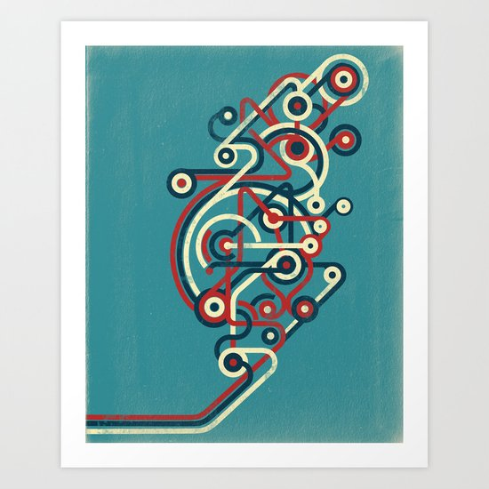 Interconnected Art Print