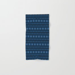 Dividers 07 in Blue over Black Hand & Bath Towel