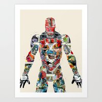 superheros Art Prints featuring modern ironman  by bri.buckley