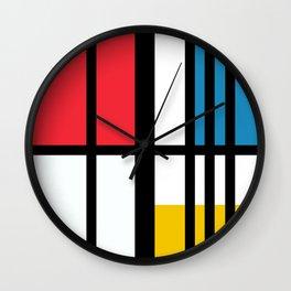 Thinking about Mondrian Wall Clock