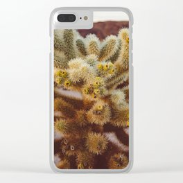 Cholla Cactus Garden XIV Clear iPhone Case