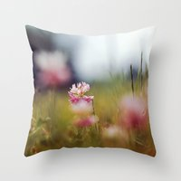 clover Throw Pillows featuring Clover by elle moss