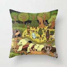 Giant Tortoise Throw Pillow