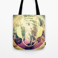 dj Tote Bags featuring DJ by Sara LG