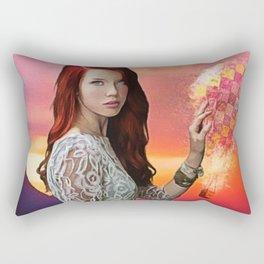 When the Rain Falls - Female Form Crystal Balloon Summer Rain portrait Rectangular Pillow
