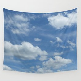 Blue Summer Sky // Cloud Photography Wall Tapestry