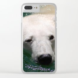 Polar bear's delight Clear iPhone Case