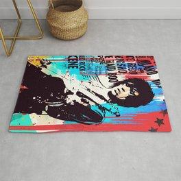 Rolling Stones pop art style Rug