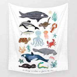 Sea Change: Ocean Animals Wall Tapestry