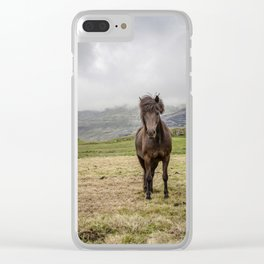 Icelandic Horse Clear iPhone Case