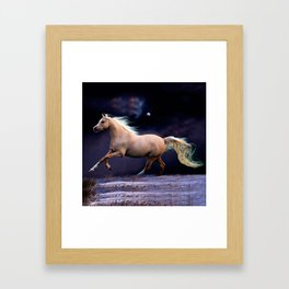 horse galloping Framed Art Print