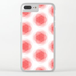 3D Roses Pattern. Clear iPhone Case