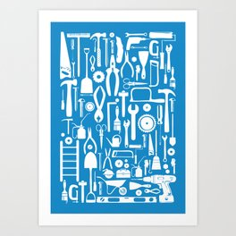 Toolbox Poster: Blue Art Print