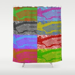 NYC 4x2 Shower Curtain