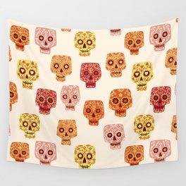 Dia de los Muertos Mexican Decorated Skull Art Wall Tapestry