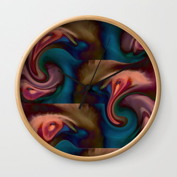 Abstract Eyes Wall Clock